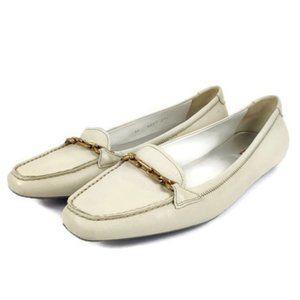 Prada Cream Leather loafers/Mocassin Size: 39.5